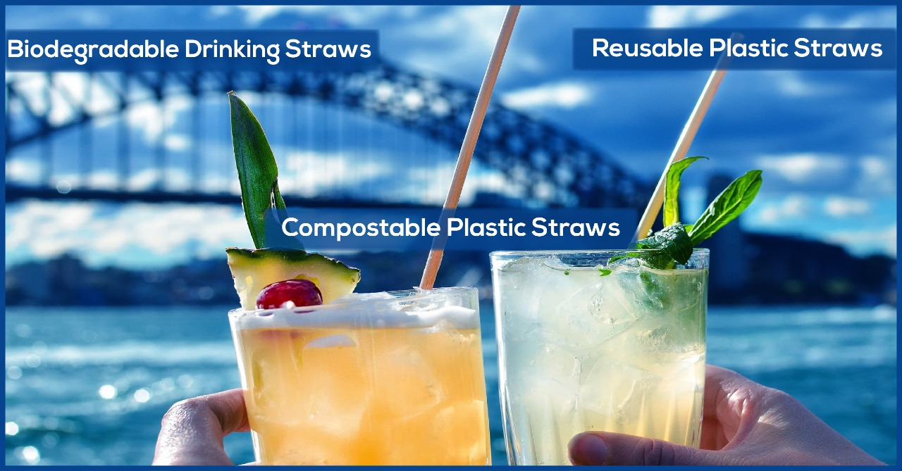 biodegradable drinking straws | reusable plastic straws | compostable plastic straws